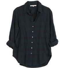 Xirena Beau Flannel Shirt (285 AUD) ❤ liked on Polyvore featuring tops, shirts, blouses, flannels, flannel top, tartan top, tartan shirts, over sized shirts and oversized flannel shirt