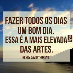 Do grande escritor #henrydavidthoreau Inspiração @fluxodomar  #frases #bomdia…