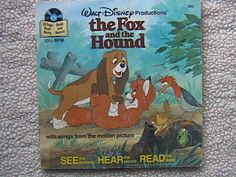 THE FOX AND HOUND BOOK RECORDING 7 5 WALT DISNEY RECORDS 1978 CHILDREN