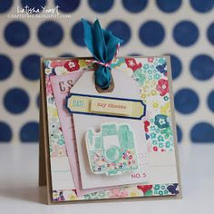Lovely card with Maggie Holmes papers! A Busy Little Craftee Bee: Crate Paper & CardMaker Blog Hop!