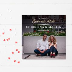 Designed by Stylish Moments  |  www.stylishmoments.ca  She said yes! Let the planing begin. Announce your engagement with a chic wedding announcement that tells your love story. I collaborate closely with my clients to choose the perfect image and designing an layout that showcases their personality and style.   Providing products and services across Canada.