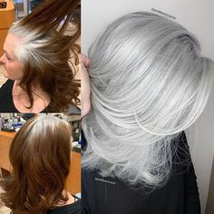 ᒍᗩᑕK ᗰᗩᖇTIᑎ (@jackmartincolorist) • Instagram photos and videos Dying Hair Blonde, Dying Your Hair, Hair Cutting Techniques, Hair Color Techniques, White Hair Highlights, Grey Hair Transformation, Grey Hair Inspiration, Grey White Hair, Short Hair