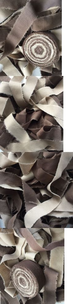 Rug Braiding Supplies 183229 Rag Fabric Strips Rugmaking Amish Knot Braided Brown Tan