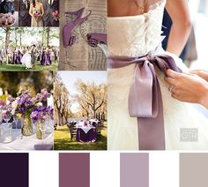 Gorgeous purple and gray wedding color