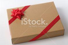 Blank cardboard gift Box Royalty Free Stock Photo