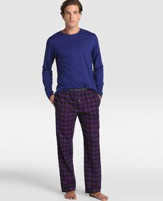 Pijama largo de hombre Tommy Hilfiger azul · Tommy Hilfiger · Moda · El Corte Inglés