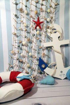 Декор в морском стиле для фотостудии. Nautical Party, Nautical Wedding, Marine Style, Sailor Theme, Photography Backdrops, Photo Backgrounds, Baby Decor, Holidays And Events, Photo Studio