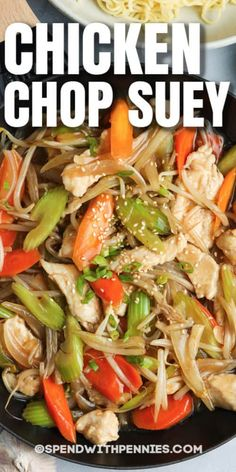 Homemade Chinese Food, Best Chinese Food, Chinese Chicken Recipes, Easy Chinese Recipes, Healthy Chinese, Chinese Desserts, Chop Suey Recipe Chinese, Easy Chicken Chop Suey Recipe, Chicken Chow Mein Recipe Easy