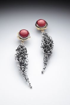 Lynn Légaré | Profile - Society of North American Goldsmiths  |  Paprika et Espelette: Sterling silver, 18-carats gold, coral