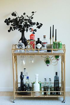 """Determine even more relevant information on """"gold bar cart decor"""". Have a look at our web site."""