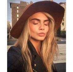 Hat with bushy eyebrows
