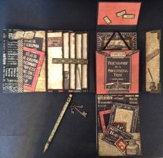 annes papercreations: Graphic 45 Typography Folio journal / keepsake Photo album
