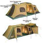 Coleman - Montana 12 CV Tent - 3 rooms w/ sectioned bedrooms either side of the 300 x 230cm living area/sunroom #coleman