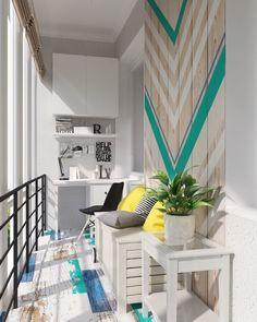 Фотография: Балкон в стиле Скандинавский, Квартира, Студия, Проект недели, Сургут, новостройка, кухня в нише, Диляра Сайфутдинова – фото на InMyRoom.ru