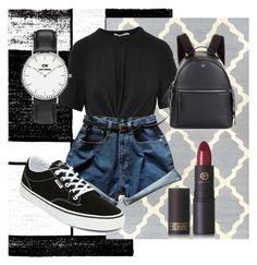 """""""MAYBE SUMMER?"""" by oliviasyko on Polyvore featuring Alpine, T By Alexander Wang, Vans, Fendi, Daniel Wellington and Lipstick Queen"""
