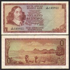 the GooD oLd  OnE Jan 1 Rand, Old Money, Banknote, New South, Displaying Collections, The Good Old Days, Childhood Memories, Growing Up, South Africa