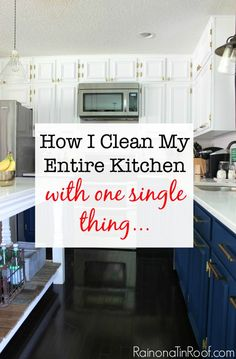 I had no idea!!! How I Clean My Entire Kitchen with One Single Thing...
