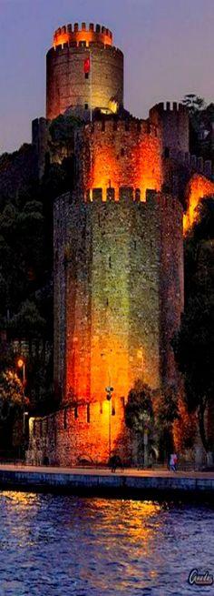 Rumeli Hisari - Built by Mehmet the Conquerer in 1453 opposite to Anadolu Hisari on the Bosporus, Istanbul-Turkey