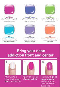 Stylish Nail Collection: Essie Neon Summer 2014