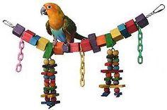 Super Bird Creations 7 by 18-Inch Rainbow Bridge Jr. Bird Toy Medium SBC449