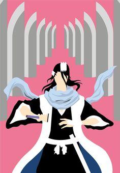 Bleach Kuchiki Byakuya minimalistic Bankai Illustration ©LinneaEveliina