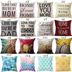 Cheap letter cushion covers, Buy Quality cushion cover directly from China decorative pillow covers Suppliers: Letter Cushion Cover Father's Day Gift Pillow Cover I love you Dad Mosaic Style Sofa Cushion Cover Home Decorative Pillow Cover Cushion Covers Online, Sofa Cushion Covers, Sweet Moon, Cheap Pillows, Magical Home, Love You Dad, Pink Art, Decorative Pillow Covers, Textiles