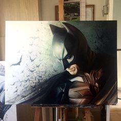 Batman, Superman and Joker paintings by Ben Jeffery