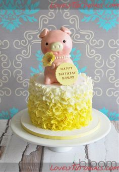 Petal ruffles cake tutorial - Мастер-классы по украшению тортов Cake Decorating Tutorials (How To's) Tortas Paso a Paso