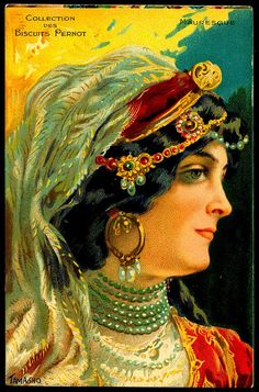 French French Tradecard - Moorish. @@@.....http://www.pinterest.com/marinagomor/posters-labels-prints/
