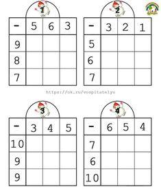 Math Activities For Kids, Preschool Math, Math For Kids, Teaching Kids, Math Multiplication Worksheets, First Grade Math Worksheets, 1st Grade Math, Maternelle Grande Section, Coding For Kids