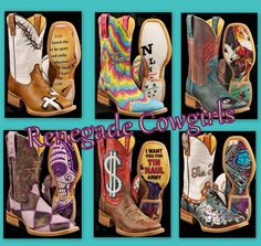 Tin Haul Boots Renegade Cowgirls Boutique.....LOVE all of them!!!