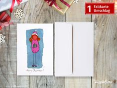 Funny Character, Illustration, Playing Cards, Characters, Etsy Shop, Pink, Comic Drawing, Xmas Cards, Figurine