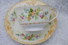 NORITAKE Vintage Tea Cup Saucer Japan Shabby by HoneyandBumble, $15.00