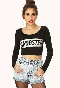 Gangster Crop Top | FOREVER21 - 2000108002 - must have!