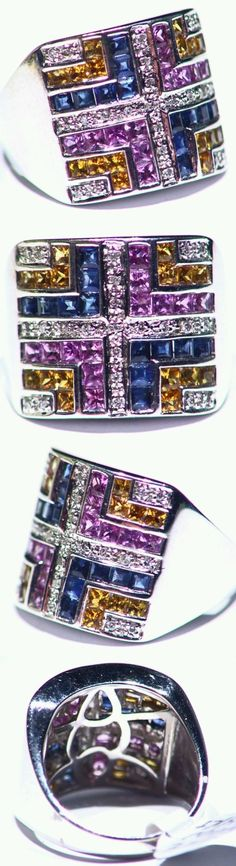 Rings 165044: 1.18Ct 14K Gold Natural Sapphire Cut White Diamond Vintage Engagement Band Ring -> BUY IT NOW ONLY: $911 on eBay!