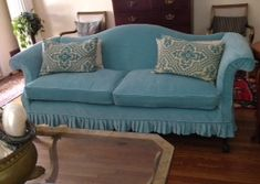 Linen Slipcover On Camelback Sofa Furnishings And Decor In 2019 Furniture