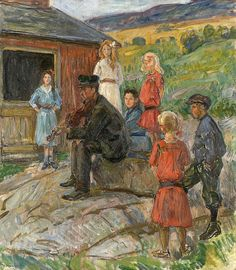 Holmboe, Thorolf (1866-1935)  Ungdom og felespiller