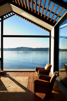Design studio Graypants turned an abandoned garage into an illuminated lakeside cabin on an island in Washington state. As their debut architecture project, the studio's. Transformer Un Garage, Vashon Island, Lakeside Cabin, Garage Makeover, Design Studio, Cabins In The Woods, Architectural Digest, My Dream Home, Future House