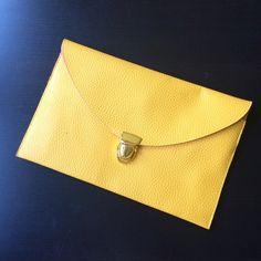 Yellow clutch No chain. Fun Yellow clutch. Bags