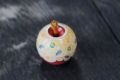 Jewelry box Glazed apple wood jewelry box Painted box Unique gift for her Home red decor Birthday gift ideas by WoodAndWatercolour on Etsy