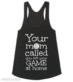 Volleyball Crop Top Your Mom called you left your game at home | Volleyball Crop Top Your Mom called you left your game at home #Skreened