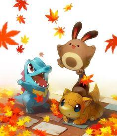 Totodile, Sentret & Sandrew - Pokemon