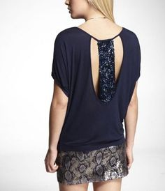 Just got this.... I am a sucker for anything navy AND sequined. So perfect with some white jeans and heels!