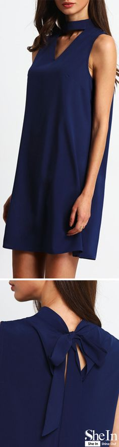 Which dress will suit you best this season? Shein shows the latest styles to aid you on your shopping quest. It depends on you to try this Royal Blue Keyhole Front Self-tie Back Shift Dress at any time. Simple Dresses, Cute Dresses, Casual Dresses, Cute Outfits, Semi Formal Outfits, Zoolander, Maturity, Spotlights, Latest Styles