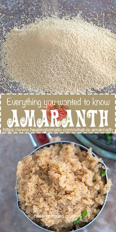 Everything you wanted to know about Amaranth grain but were afraid to ask. Learn how easy it is to cook and eat. What to do with amaranth. What is amaranth. How to store amaranth. How To Cook Amaranth, Quinoa, Amaranth Recipes, Millet Recipes, Amaranth Grain, Vegetarian Recipes, Healthy Recipes, Healthy Tips, Free Recipes
