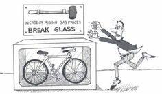 High Gas Prices = Ride Your Bicycle! Bike Humor, Retro Bicycle, Stress, Commuter Bike, Broken Glass, In Case Of Emergency, Cool Bicycles, Bike Life, Road Cycling