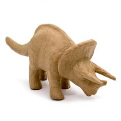 Kid Made Modern Dinosaur Triceratops Figurine - Kraft, Brown