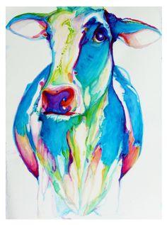 """Saatchi Online Artist: Dana Gardner-Clark; Watercolor, Painting """"Dreamland Pasture #7"""""""