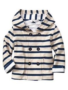 Striped hooded coat for baby boy | Gap | stop it. too cute.