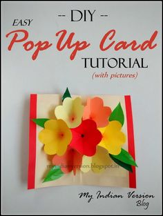 Floral Pop-up Card - 9 Cute And Creative Pop Up Cards to Make - All Time List